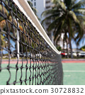 Outdoor tennis net at court with nobody 30728832