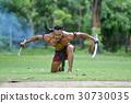 Portrait Ancient warrior man thailand Martial arts 30730035