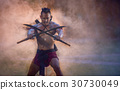 Ancient warrior man thailand people for background 30730049