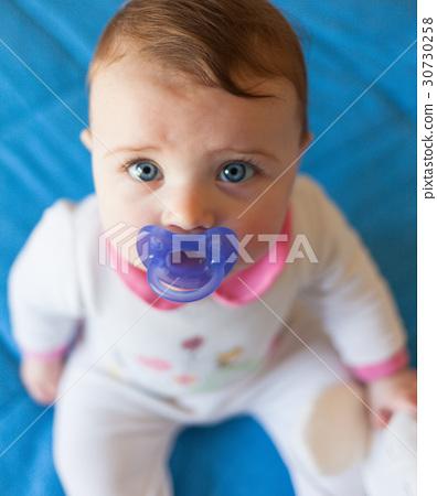 Portait of beautiful baby girl 30730258