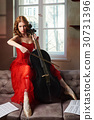 cello, female, play 30731396