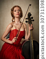 cello, female, play 30731398