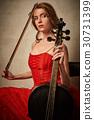 cello, female, play 30731399