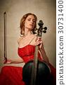 cello, female, play 30731400