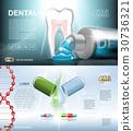 Digital vector blue medicine toothpaste 30736321
