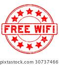 vector, wi-fi, rubber 30737466