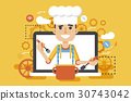 Vector illustration chef cook nutritionist 30743042