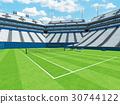 Beautiful modern tennis grass court open stadium 30744122