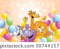 动物 卡通 快乐 30744157