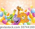 动物 气球 矢量 30744160