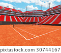 Beautiful modern open tennis clay court stadium 30744167