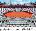 Beautiful modern open tennis clay court stadium 30744210