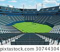 Beautiful open modern tennis grass court stadium 30744304