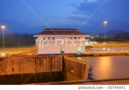 The Miraflores Locks in the Panama Canal  30744841