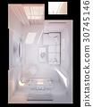 3d render of the interior design living room  30745146