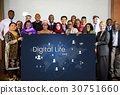 People connected global communication technology 30751660