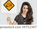 Bus Stop Sign Vehicle Symbol 30752367