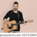 guitar, harmonica, man 30752884