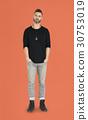 Caucasian Man Peaceful Standing 30753019