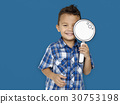 boy, holding, papercraft 30753198