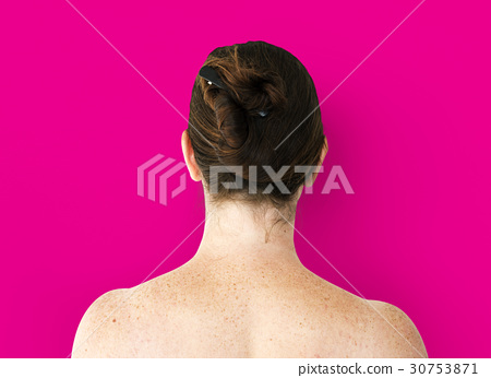 Caucasian Woman in a Back View 30753871