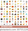 100, magic, icons 30755228