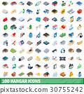 100, hangar, icons 30755242
