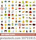 100, farm, icons 30755915