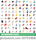 100, manners, icons 30755968