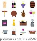 wine, icon, set 30756592