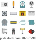 heating, cooling, icon 30756598
