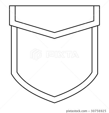 Valve pocket icon, outline style 30756925