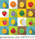 smiling, fruit, icon 30757117