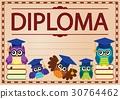 diploma, document, paper 30764462