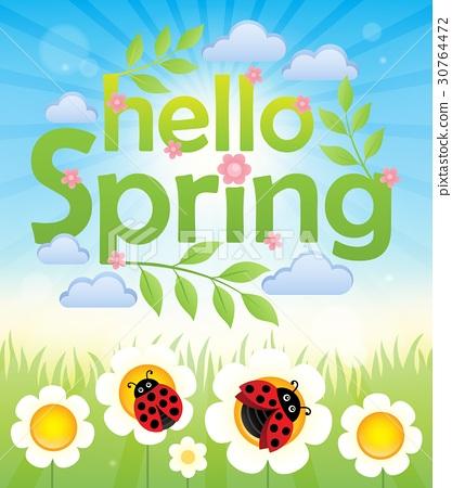 Hello spring theme image 6 30764472
