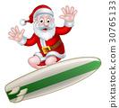 圣诞老人 圣诞老公公 冲浪 30765133