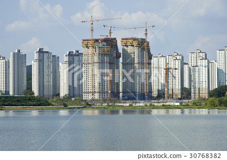 建設工地,Gwangyo湖公園,光州新城,水原,京畿道 30768382