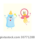 baby, milk, pacifier 30771288