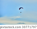 para motor glider on sky, blur 30771797