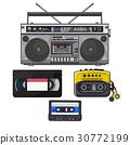 Retro audio cassette, tape recorder, music player 30772199