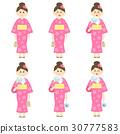 여성, 일본옷, 벡터 30777583
