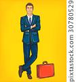 Confident pop art man in a suit 30780529