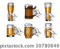 beer, glass, vector 30780646