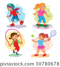 set girl vector 30780678