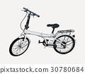 hand drawn modern bike , sketch vector. 30780684
