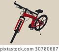 hand drawn modern bike , sketch vector. 30780687