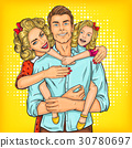 father hugging family 30780697