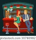 pub cartoon counter 30780982
