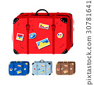 Vector illustration set of travel suitcases 30781641