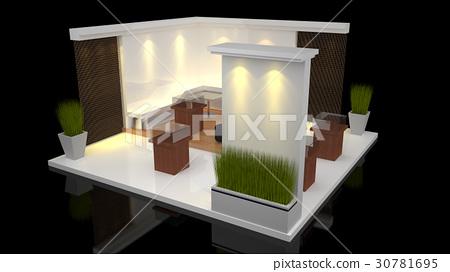 Exhibition Stall Xl : Booth exhibition stock illustration [30781695] pixta